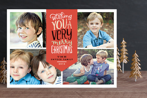 Very Merry Script Holiday Photo Cards