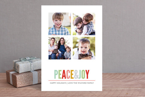 Brightly Colored Holiday Photo Cards