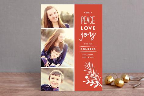 Peace + Love + Joy Holiday Photo Cards