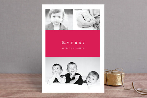 Classic Sash Holiday Photo Cards