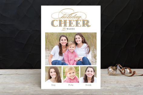 Gilded Cheer Holiday Photo Cards
