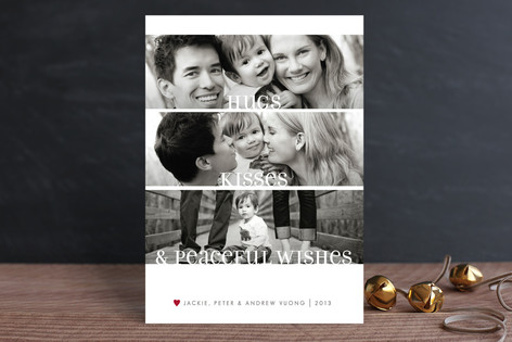 Clean Merry Wishes Holiday Photo Cards