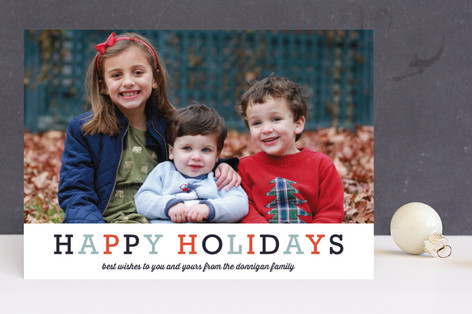 Famille Holiday Photo Cards