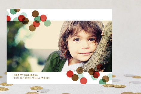 Confetti Toss Holiday Photo Cards