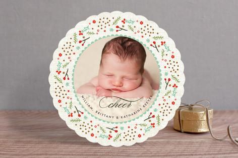 Woodland Wreath Holiday Photo Cards