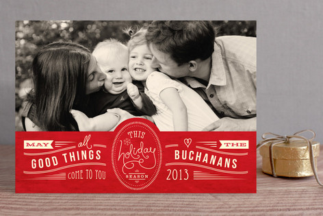 Good Things to You Holiday Photo Cards