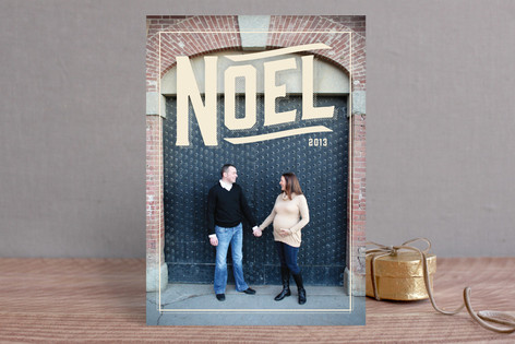 Vintage Noel Holiday Photo Cards