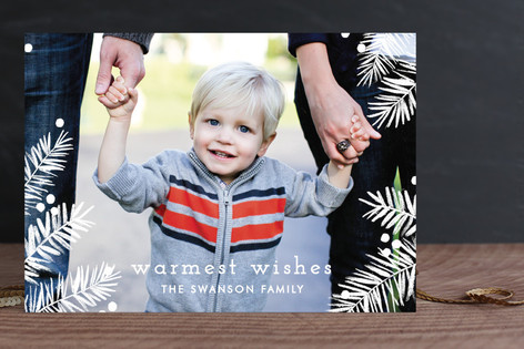Pine Bows & Berries Holiday Photo Cards