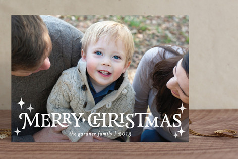 Modish Merry Holiday Photo Cards