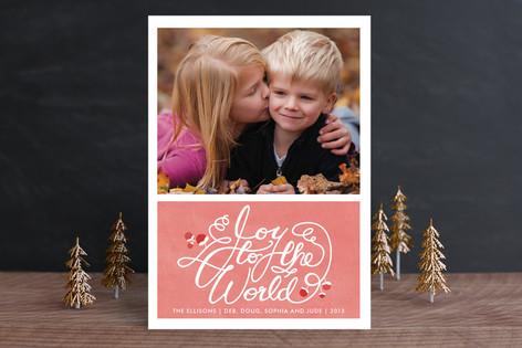 Joyful Watercolor Holiday Photo Cards