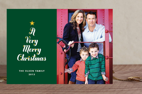 Very Merry Tree Holiday Photo Cards