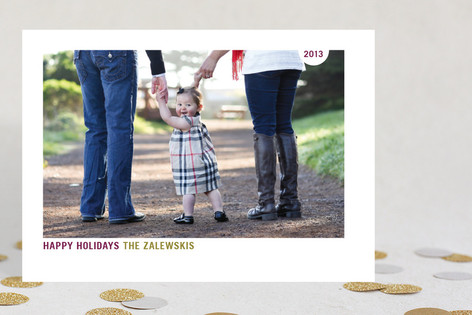 Simply Nice Holiday Photo Cards