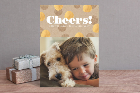 Krafted Cheers Holiday Photo Cards