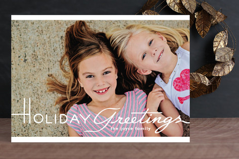 Cinematic Greetings Holiday Photo Cards