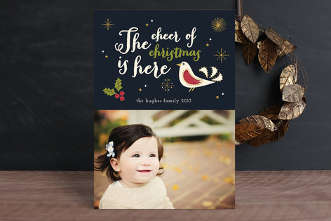 The Cheer of Christmas Holiday Photo Cards