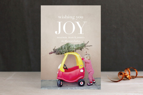 Wishing You Joy Holiday Photo Cards