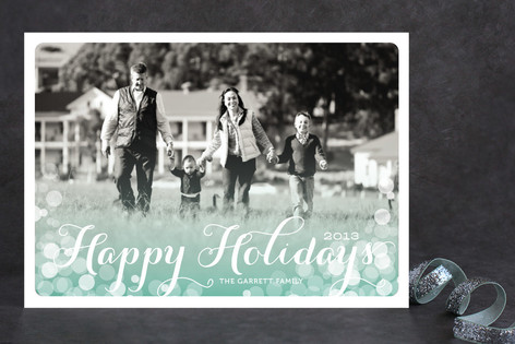 Chic Shimmer Holiday Photo Cards