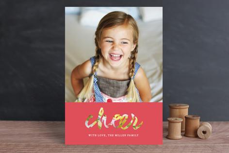 Modern Cheer Holiday Photo Cards