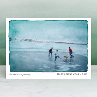 Aquarelle Holiday Photo Cards