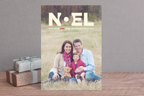 Noel Mod Holiday Photo Cards
