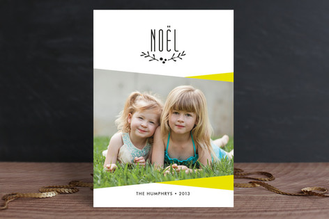 Simplest Noel Holiday Photo Cards