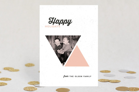 Holiday Geometry Holiday Photo Cards