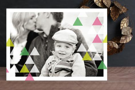 Geometric Spirit Holiday Photo Cards