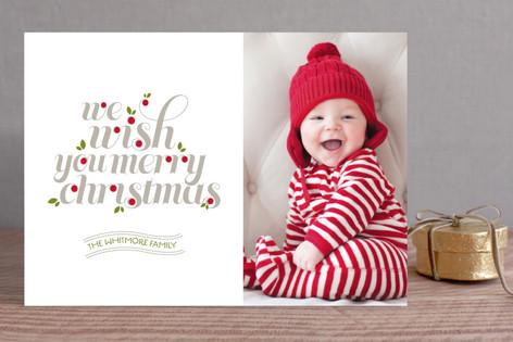 Christmas Salutations Holiday Photo Cards