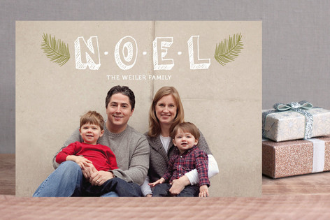 Noel Branches Holiday Photo Cards