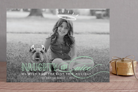 Halo & Horns Holiday Photo Cards