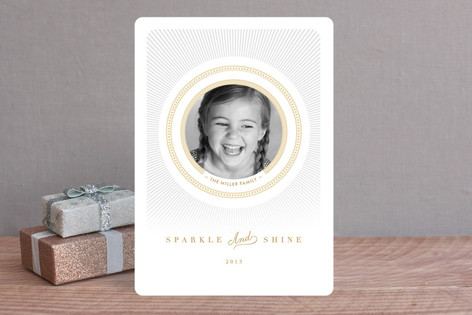 Radiant Shine Holiday Photo Cards