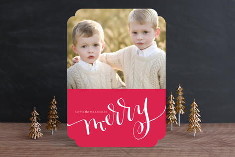 Cadmium Ink Holiday Photo Cards