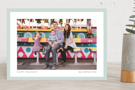 Bright Border Holiday Photo Cards