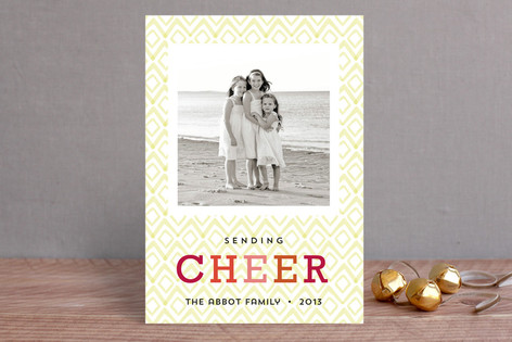 Diamond Noel Holiday Photo Cards