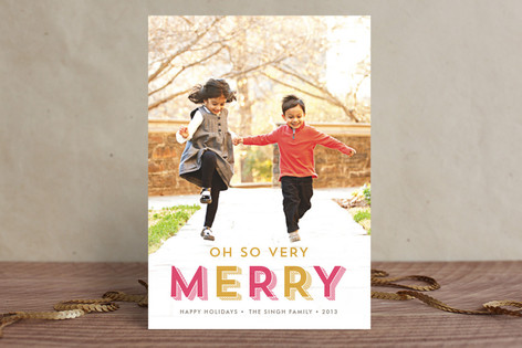 Oh So Very Merry Holiday Photo Cards