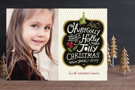 Holly Jolly Wishes Holiday Photo Cards