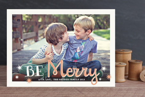 Whimsical Merry Holiday Photo Cards