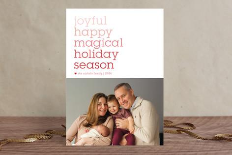Wordsmith Holiday Photo Cards
