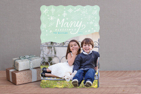 Dipped Snowflakes Holiday Photo Cards