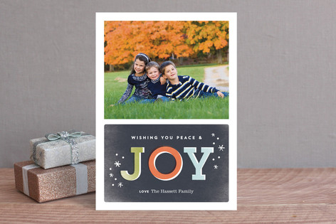 Nostalgic Joy Holiday Photo Cards