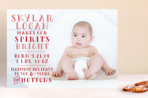Baby Bright Holiday Photo Cards