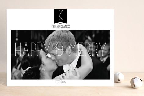 Elegant Merry Holiday Photo Cards