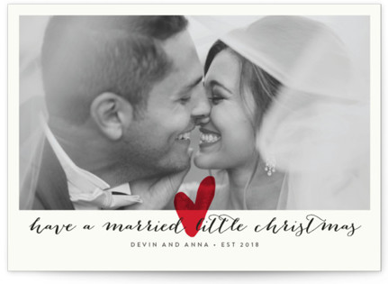 Married Little Heart Holiday Photo Cards