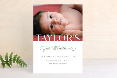 Baby's First Christmas Holiday Photo Cards