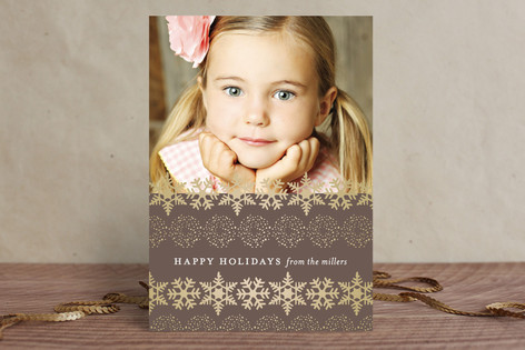Happy Snowflakes Holiday Photo Cards