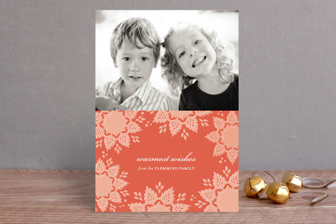 Snowlace Holiday Photo Cards