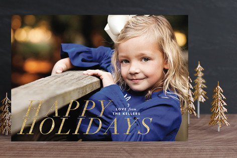 Modern Yuletide Holiday Photo Cards