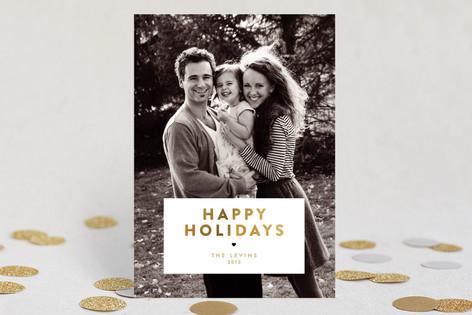 Gilded Christmas Holiday Photo Cards