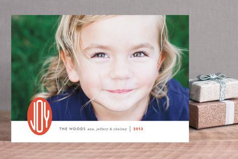 Joy Emblem Holiday Photo Cards