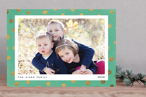 Pebble Dot Holiday Photo Cards